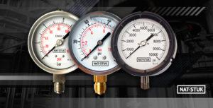 When should you use liquid-filled pressure gauges?